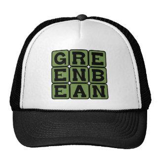 Haba verde, verdura gorras de camionero