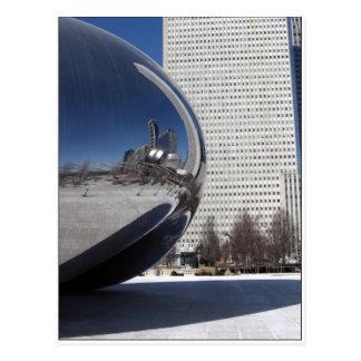 Haba y Skyscaper de Chicago Tarjeta Postal