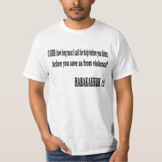 HABAKKUK 1:2 Bible verse. T Shirt