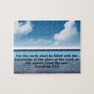 Habakkuk 214 bible verse quote jigsaw puzzle