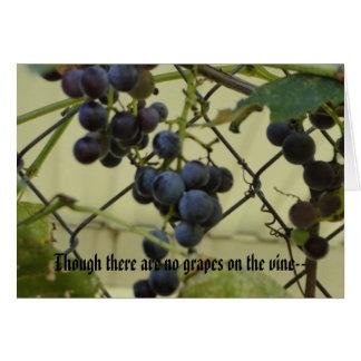 Habakkuk 3; 17,18, uvas tarjeta de felicitación