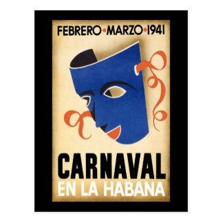 Habana Carnaval Havana Carnival 1941 Postcard