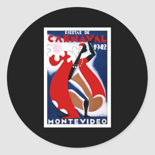 Habana Carnaval Havana Carnival 1942 Classic Round Sticker