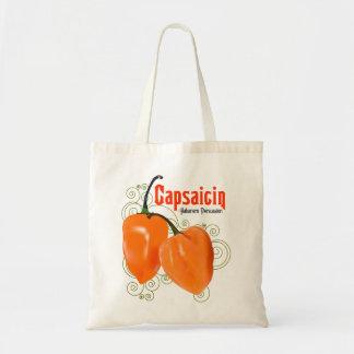 Habanero Capsaicin Chili Pepper $13.95 Tote Bag