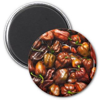 Habanero del chocolate imán redondo 5 cm