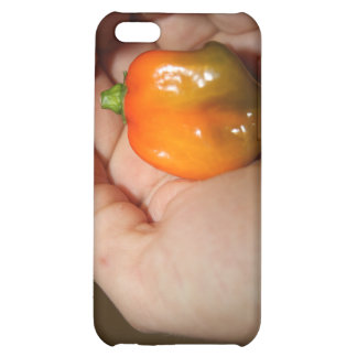 Habanero hot pepper in female hand iPhone 5C covers