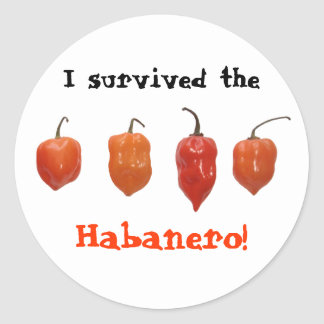 Habanero Peppers Classic Round Sticker