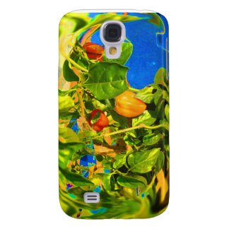 Habanero Peppers on Plant Trippy photo Samsung S4 Case