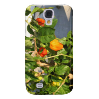 Habanero plant photograph with peppers galaxy s4 case