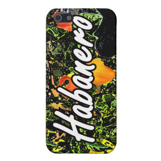 Habanero text against plant photograph iPhone 5 covers