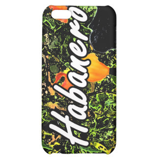 Habanero text against plant photograph iPhone 5C cover