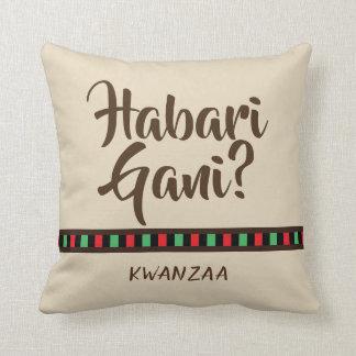Habari Gani - Kwanzaa items | Throw Pillow