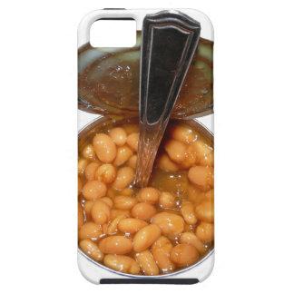 Habas cocidas en lata con la cuchara iPhone 5 coberturas