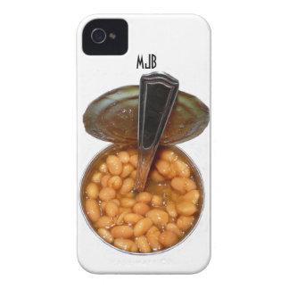 Habas cocidas en lata con la cuchara iPhone 4 cárcasa