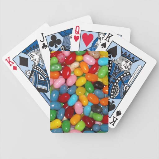 Habas de jalea baraja cartas de poker
