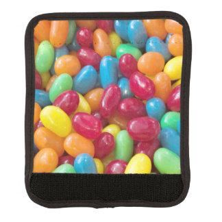 Habas de jalea coloridas vibrantes funda para asa de maleta