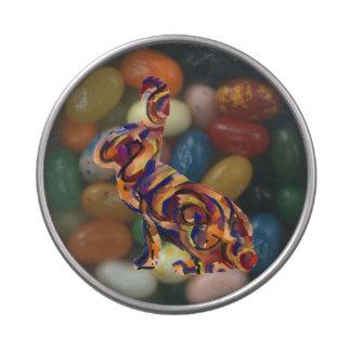 Habas de jalea de Pascua del conejito del arte Latas De Dulces