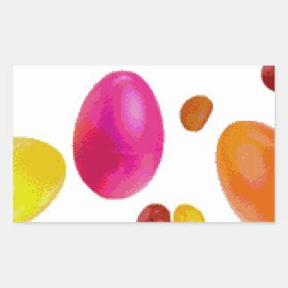 Habas de jalea de Pascua Rectangular Pegatinas