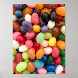 Habas de jalea del fondo del Jellybean de Pascua Póster