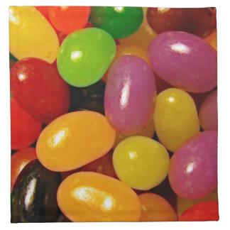Habas de jalea y días de fiesta de Pascua Servilletas Imprimidas