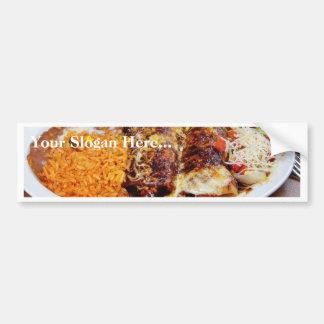 Habas del arroz de los Enchiladas Pegatina De Parachoque