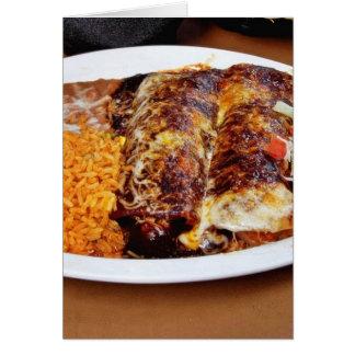 Habas del arroz de los Enchiladas Felicitaciones
