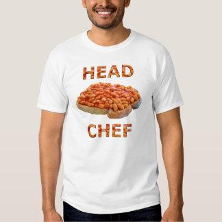 Habas del chef en tostada poleras