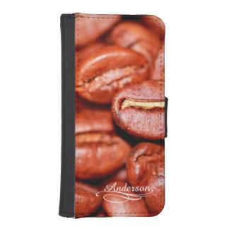 Habas divertidas de Java del café Fundas Tipo Cartera Para iPhone 5