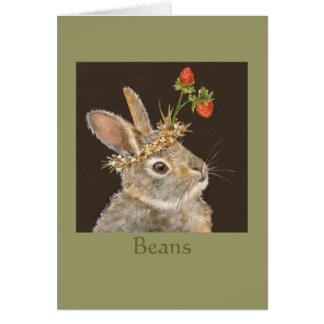 Habas el notecard del conejito tarjeton
