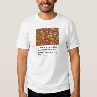 Habas en camiseta del adulto de la salsa de tomate camisas