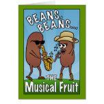 Habas, habas, la fruta musical tarjeta