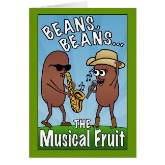 Habas, habas, la fruta musical tarjeta de felicitación