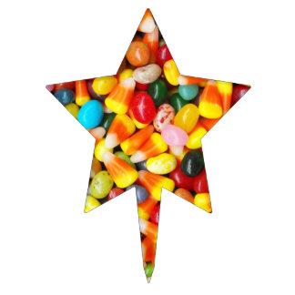 Habas y pastillas de caramelo de jalea decoración para tarta
