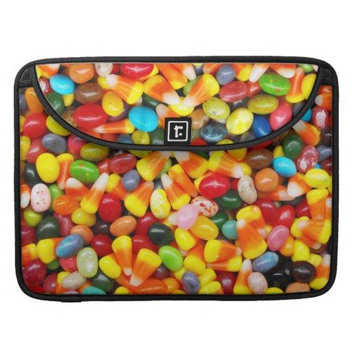 Habas y pastillas de caramelo de jalea funda para macbook pro