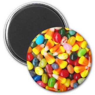 Habas y pastillas de caramelo de jalea imán redondo 5 cm