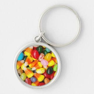 Habas y pastillas de caramelo de jalea llaveros