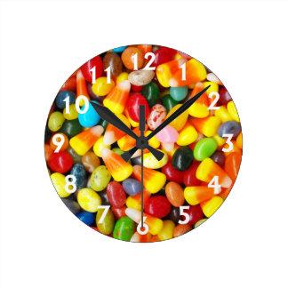 Habas y pastillas de caramelo de jalea reloj redondo mediano