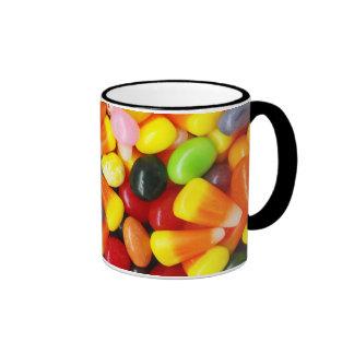 Habas y pastillas de caramelo de jalea taza de dos colores