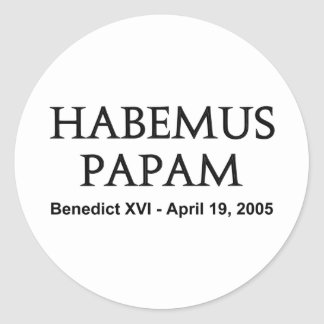 Habemus Papam Classic Round Sticker