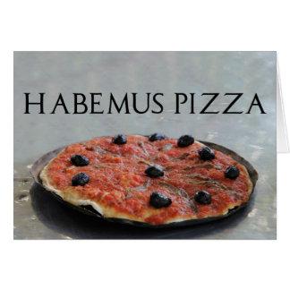 Habemus Pizza Party Invitation Greeting Card