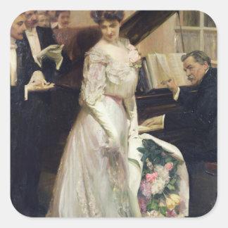 Haber celebrado, 1906 pegatina cuadrada