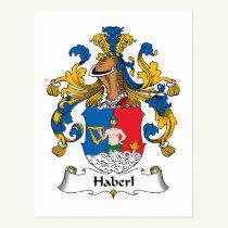 Haberl Family Crest Postcard