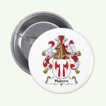 Habern Family Crest Button