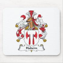 Habern Family Crest Mousepad
