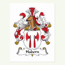 Habern Family Crest Postcard