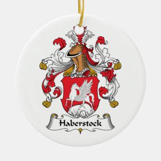 Haberstock Family Crest Ceramic Ornament