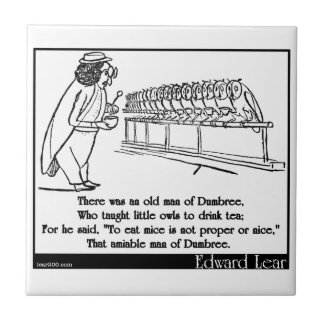 Había un viejo hombre de Dumbree Azulejo Cuadrado Pequeño