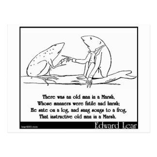 Había un viejo hombre en un pantano tarjetas postales