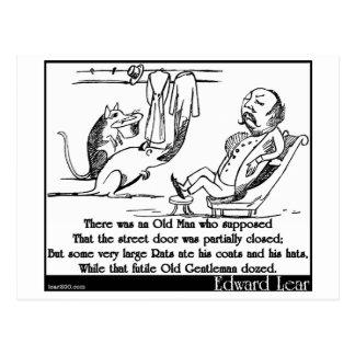 Había un viejo hombre que supuso postal