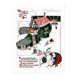 Había una poesía infantil de la mujer mayor postal